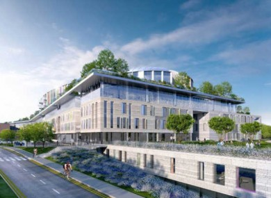An artist's impression of the new children's hospital at St Jame's Hospital in Dublin 8.
