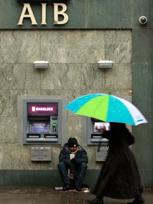 An AIB cashpoint in Dublin.
