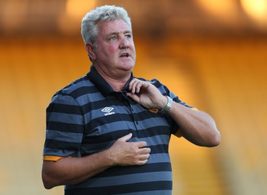 Hull manager Steve Bruce pictured during the recent pre-season friendly match at the One Call Stadium, Mansfield.