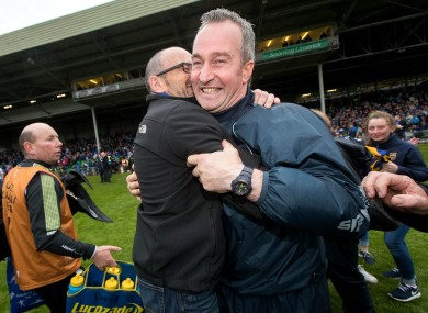 Happy days: Michael Ryan celebrates Tipp's Munster final win.