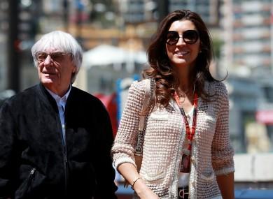 F1 CEO Bernie Ecclestone and his wife Fabiana Flosi in Monaco.