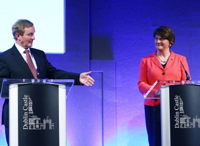 Enda Kenny pictured with Northern Ireland's First Minister Arlene Foster at the North South Ministerial Council in Dublin Castle earlier this month