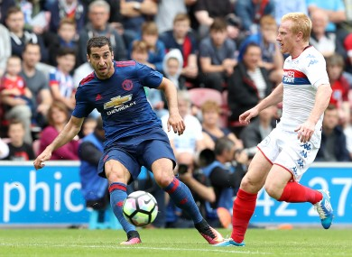 Henrikh Mkhitaryan looked at home in a Man United jersey.