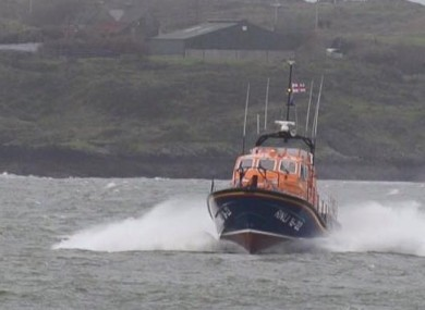 Baltimore Lifeboat on the way to Sherkin Island