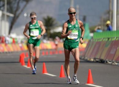 Boyce chases Heffernan early in the race.