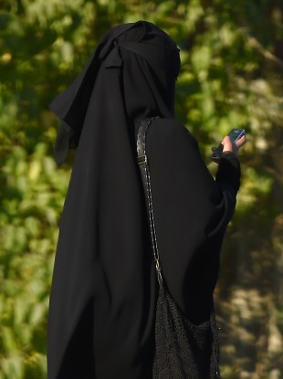 File photo of a woman dressed in a burka.