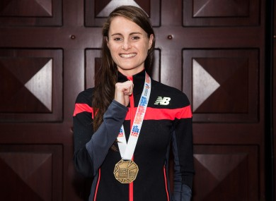 Mageean with her European bronze medal in July
