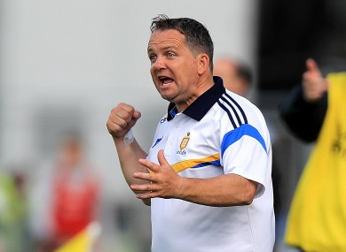 Clare manager Davy Fitzgerald.