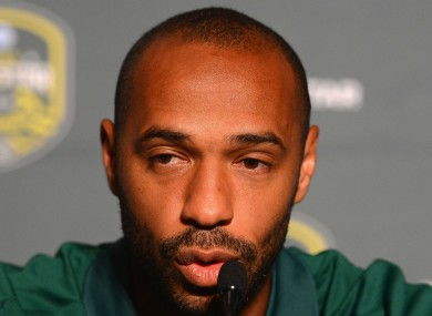 Henry recently left his coaching role at Arsenal.