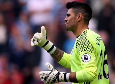 Victor Valdes started in goal for Boro last weekend against Stoke.