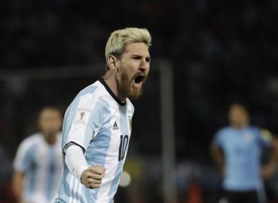 Argentina's Lionel Messi.