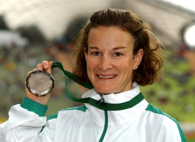 O'Sullivan with her Olympic silver medal.