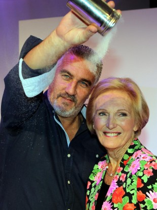 Paul Hollywood with Mary Berry.