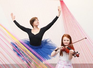 Ballerina Lisa Tighe and fiddler Eadaoin Sheehy (8) launch this year's Culture Night.