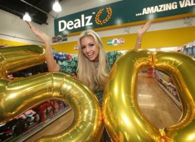 Model Rosanna Davison helped Dealz celebrate the opening of their 50th store last November.