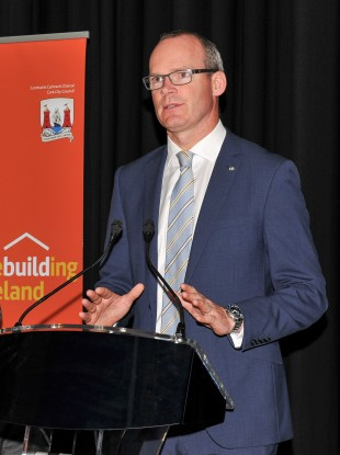 Simon Coveney speaking at the Rebuilding Ireland stakeholders event at City Hall, Cork