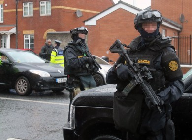 Armed Response Unit carry out checkpoint in Dublin earlier this year.
