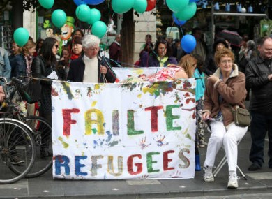 Hundreds of people turned out last year to call on the Government to take in more refugees.