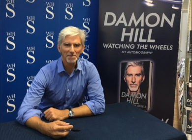 Damon Hill launches his autobiography.