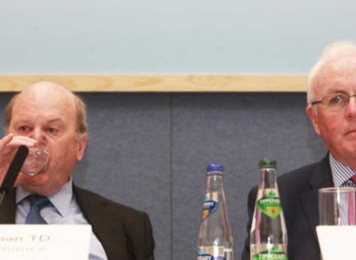 Minister for Finance Michael Noonan with Nama chairman Frank Daly, at Treasury Building in Dublin in June.