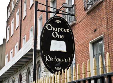 Chapter One restaurant in Dublin.