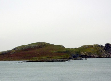 Ireland's Eye pictured from the Howth shoreline.