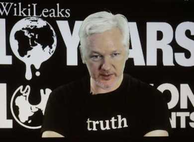 File photo of WikiLeaks founder Julian Assange.