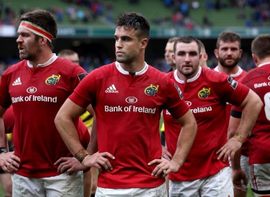 Conor Murray and Munster dejected at full-time.