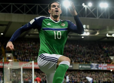 Kyle Lafferty celebrates - cropped