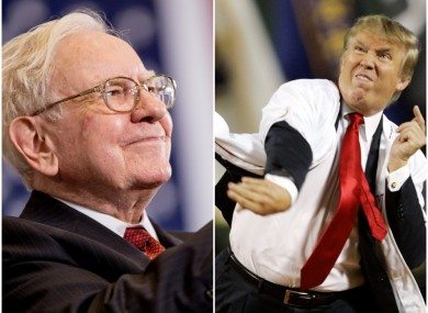 Warren Buffett and Donald Trump.