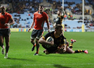 Gopperth scored Wasps' fourth try.