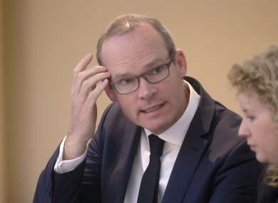 Simon Coveney said was his view that people should be charged for their water usage.