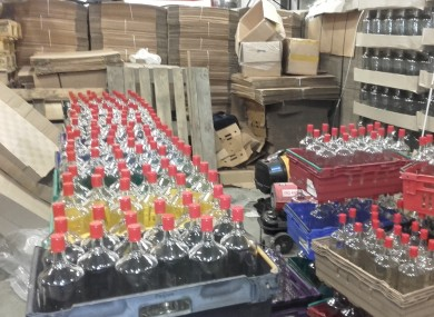 Counterfeit alcohol seizure