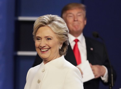 Hillary Clinton and Donald Trump during the 2016 presidential debates.