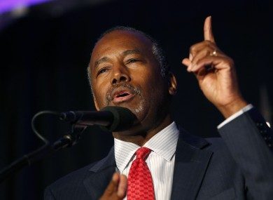 Former Republican presidential candidate Dr. Ben Carson.