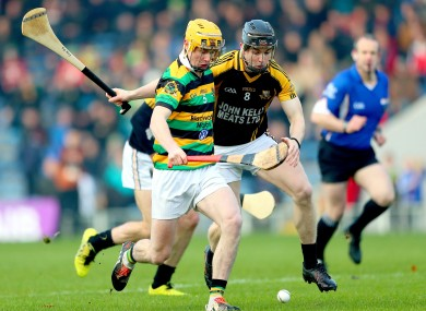 David Noonan battles with Tony Kelly (8) at Semple Stadium.