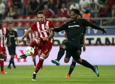 Joleon Lescott, right, has left AEK.