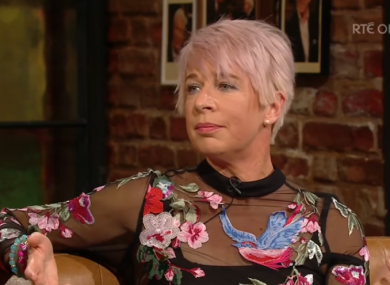 Controversial personality Katie Hopkins appearing on The Late Late Show last night.