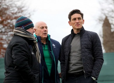 Former Ireland international Keith Andrews watches Ireland Rugby Squad Training at Carton House this week.