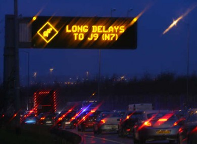 File picture of delays on the M50.