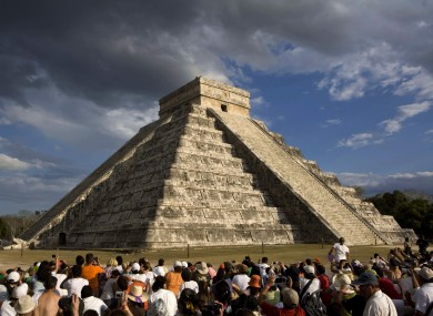 The spring equinox at the Kukulkan Pyramid in Chichen Itza, Mexico, in 2009.