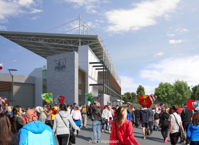 An artist's impression of the stadium's new south stand.