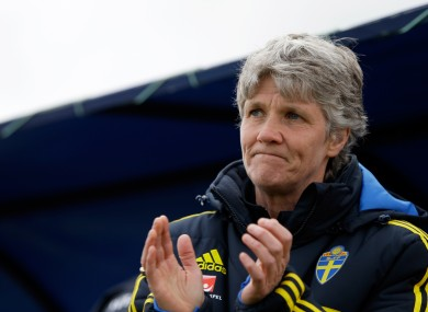 Sundhage: coached USWNT to 2008 and 2012 Olympic golds before returning to her native Sweden.