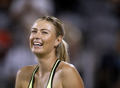 The United Nations had suspended Sharapova's role as goodwill ambassador in March after she failed a drug test.
