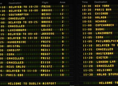 File photo at Dublin Airport