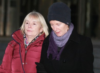 Bernadette Scully, right, outside court last week