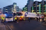 Gridlock on Dublin's northside after coach and truck crash at IFSC