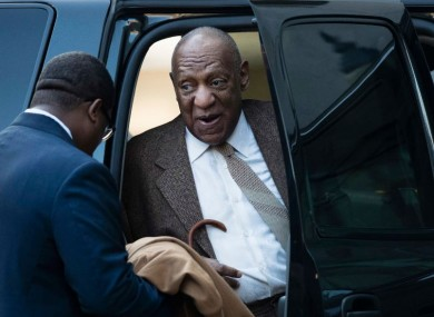 Bill Cosby arriving at the hearing today.
