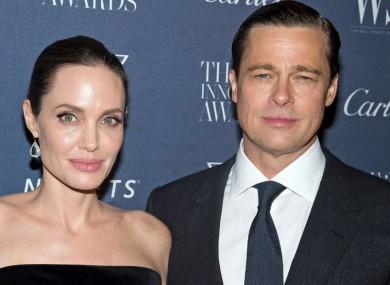 Angelina Jolie Pitt and Brad Pitt in November 2015