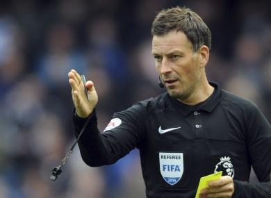 Clattenburg has been a Premier League referee since 2004.